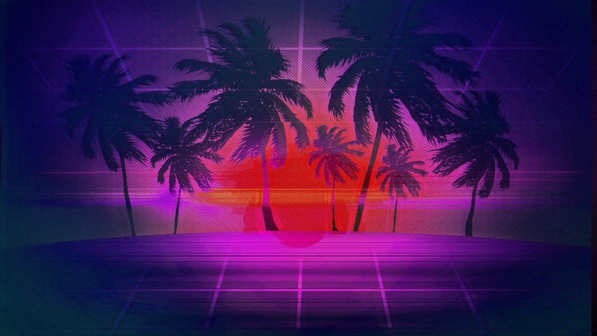 vaporwave desktop wallpaper