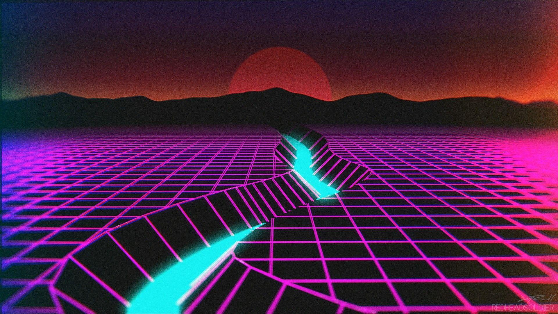 synthwave wallpaper engine