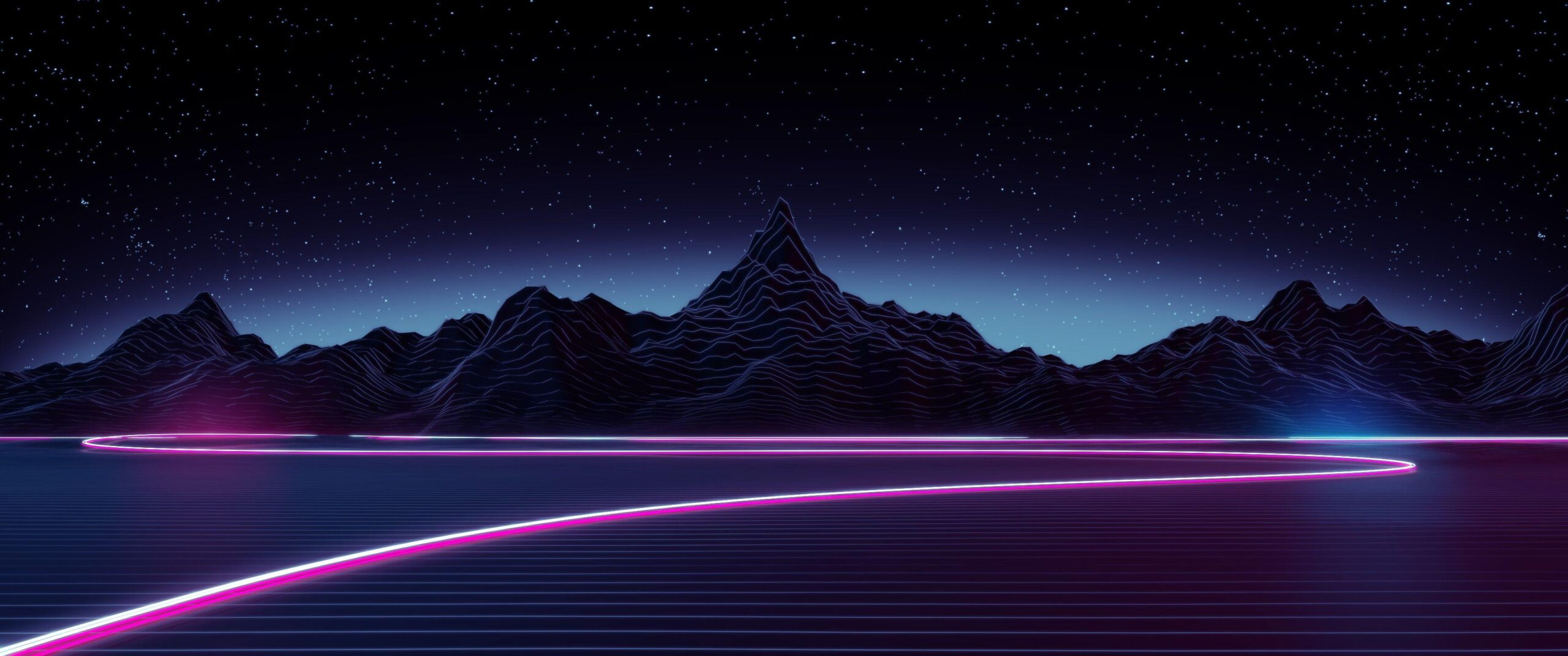 synthwave wallpaper iphone