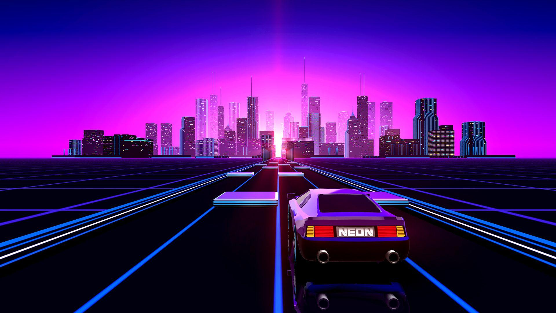 Wallpaper Synthwave