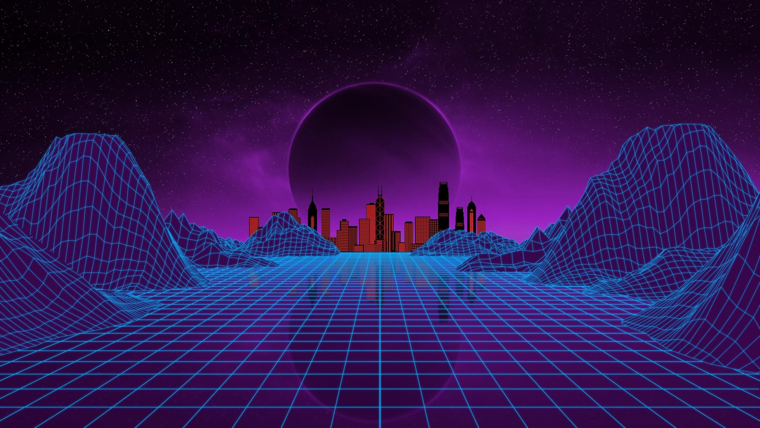 synthwave wallpaper 4k