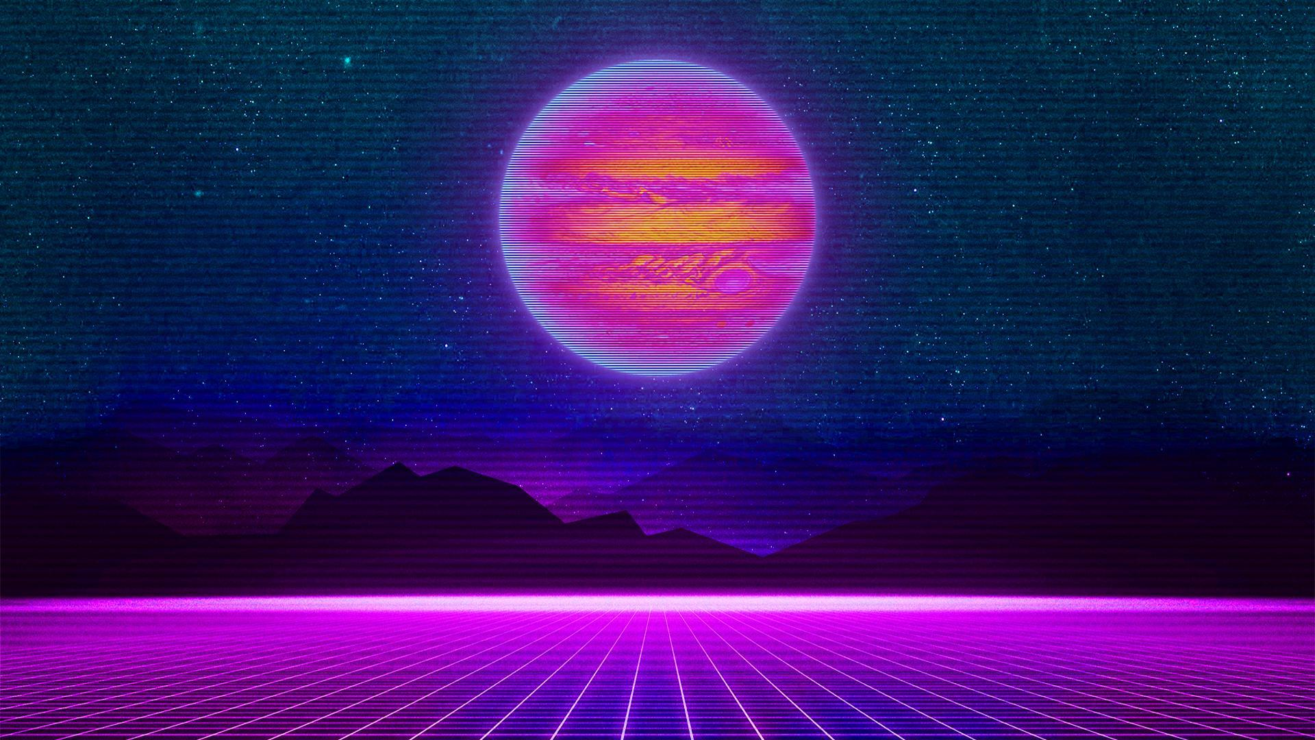 synthwave wallpaper phone