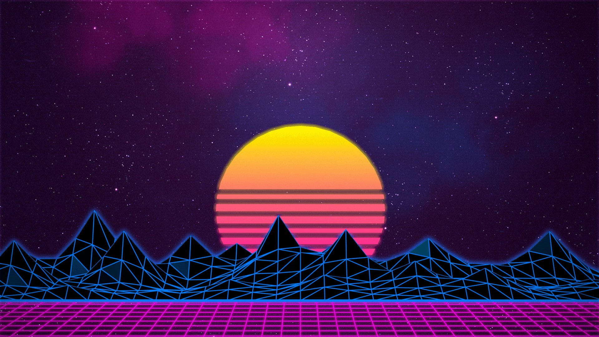 synthwave wallpaper live