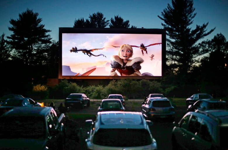 Double Feature at a Drive-in Theatre